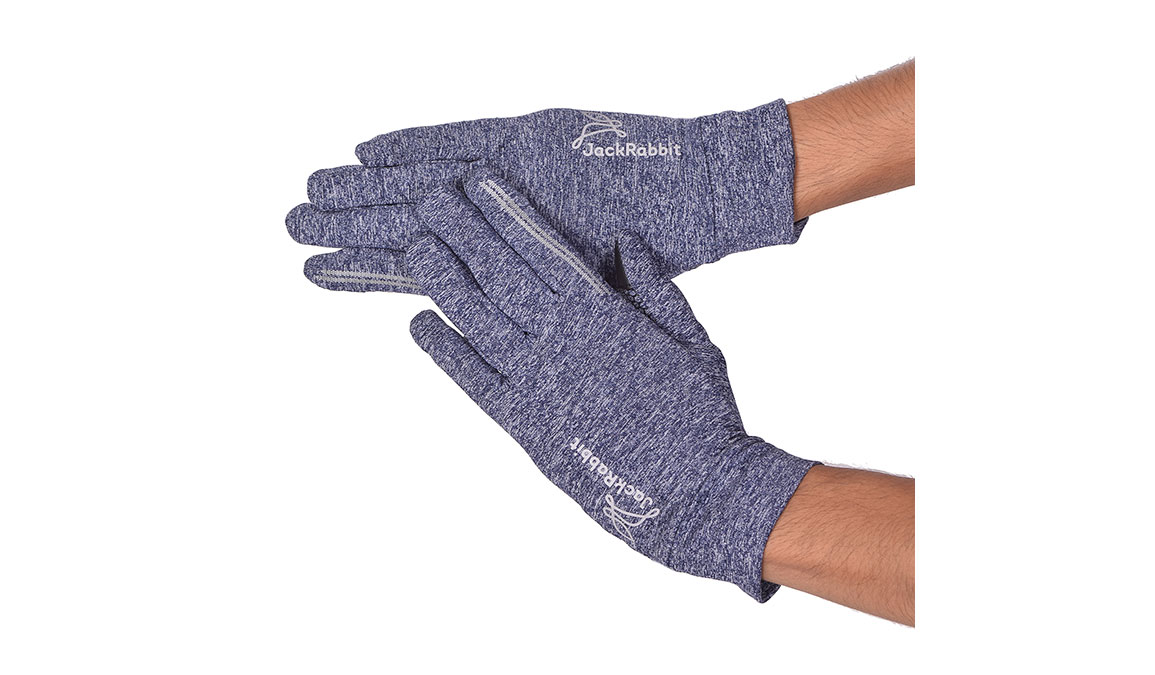 JackRabbit Blaze Smart Gloves - Color: Navy Size: L, Navy, large, image 1