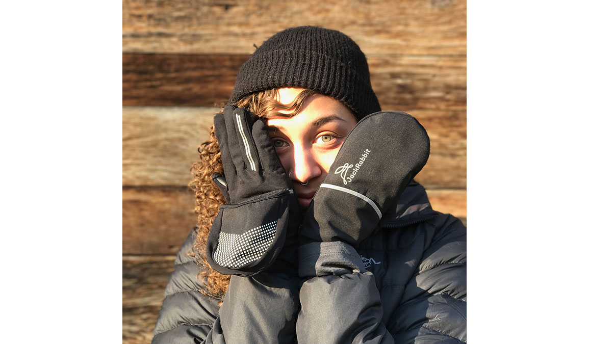 JackRabbit Dutch Gloves - Color: Black Size: M, Black, large, image 4