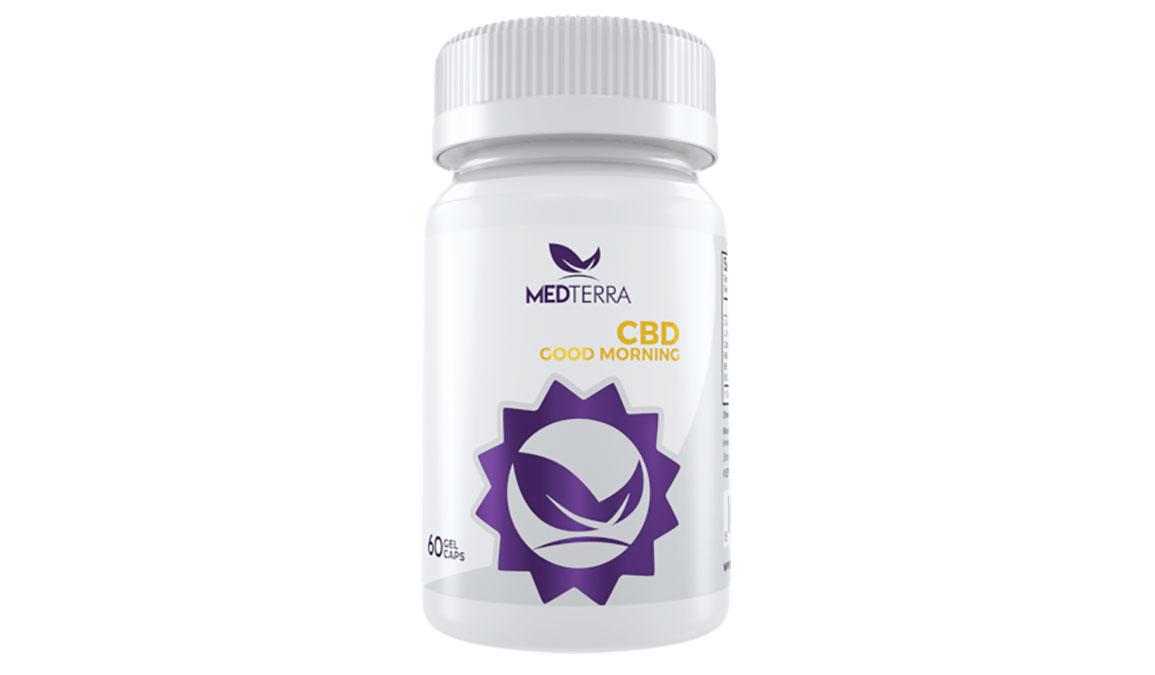 Medterra CBD Good Morning Capsules - Size: 25 mg, White, large, image 1