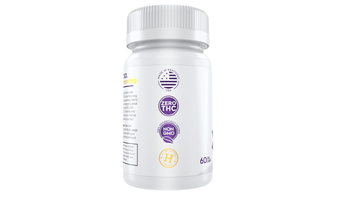 Medterra CBD Good Morning Capsules - Size: 25 mg, White, large, image 4