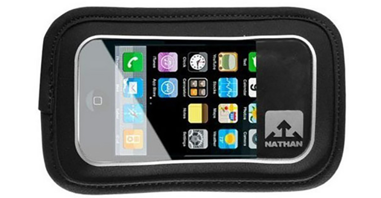 Nathan Add-On Weather Resistant Phone Pocket - Size: OS, Black, large, image 1