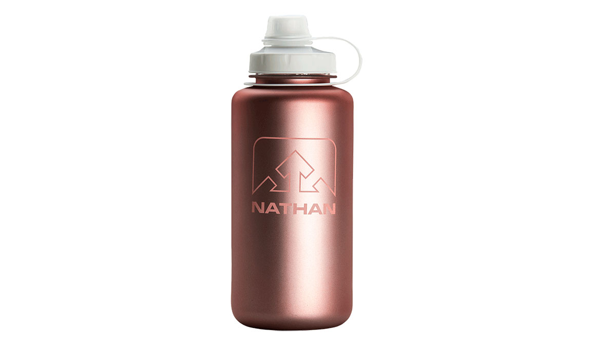 Nathan Big Shot Water Bottle - Color: Desert Gold/White Iridescent Size: NS, Red/White, large, image 1