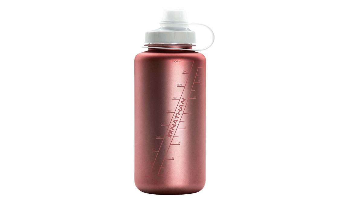 Nathan Big Shot Water Bottle - Color: Desert Gold/White Iridescent Size: NS, Red/White, large, image 2