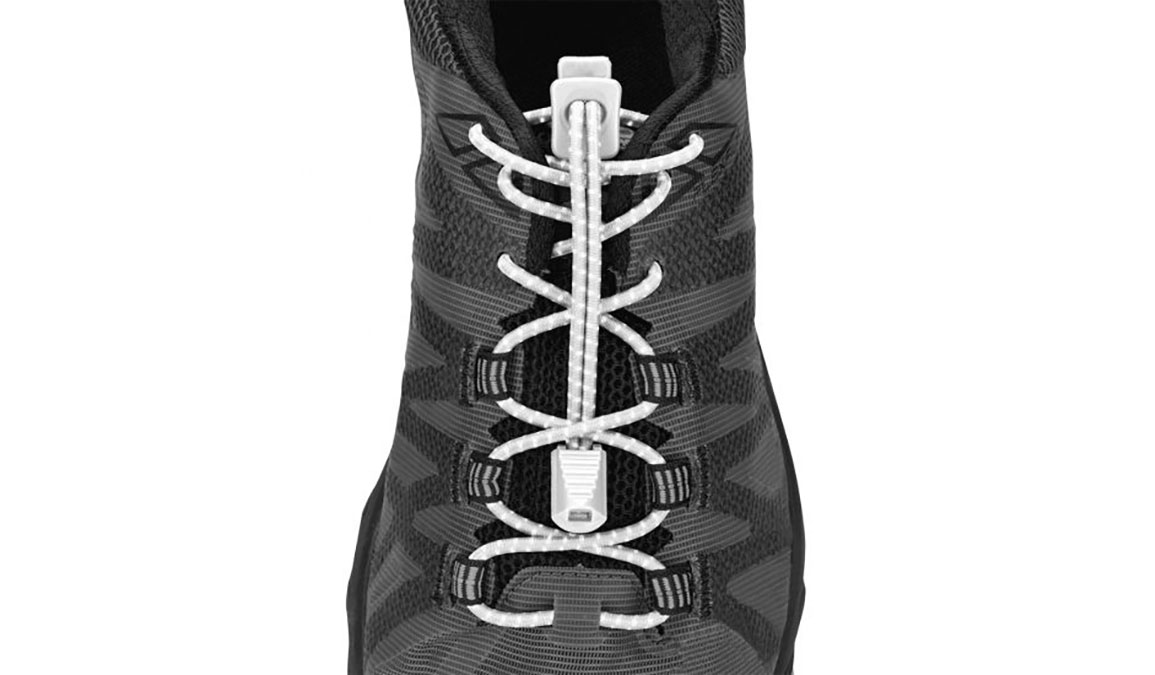 Nathan Reflective Run Laces  - Color: White Size: OSFM, White, large, image 1