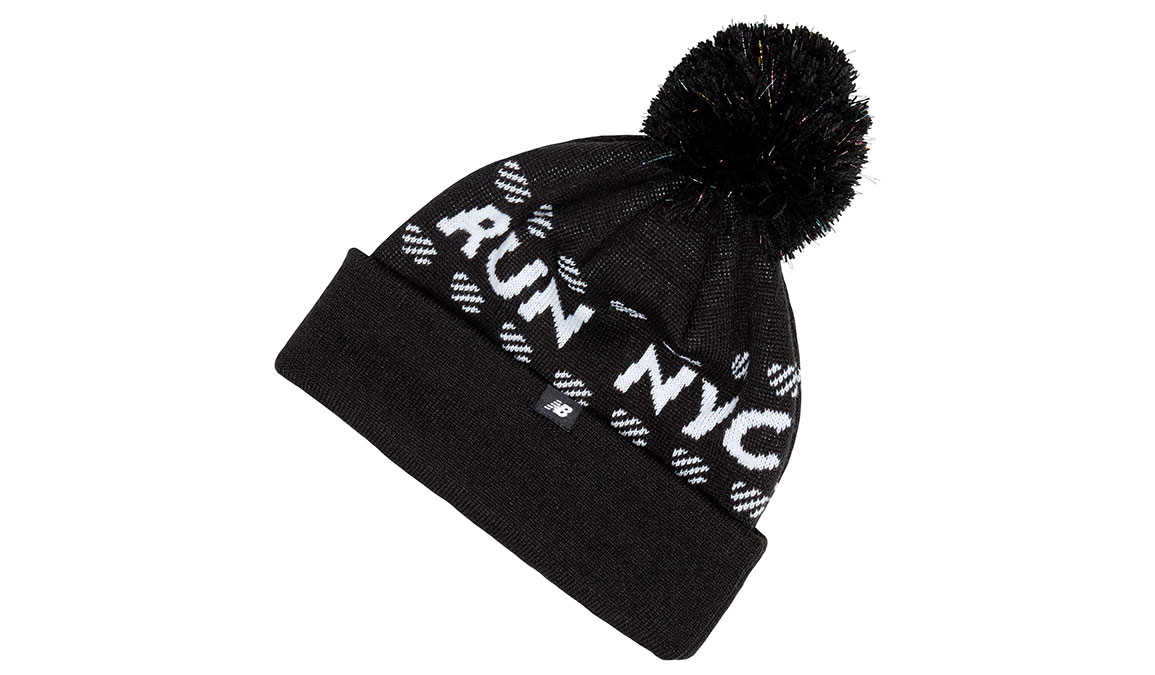 New Balance NYC Marathon Run NYC Pom Beanie - Color: Black Size: OS, Black, large, image 2