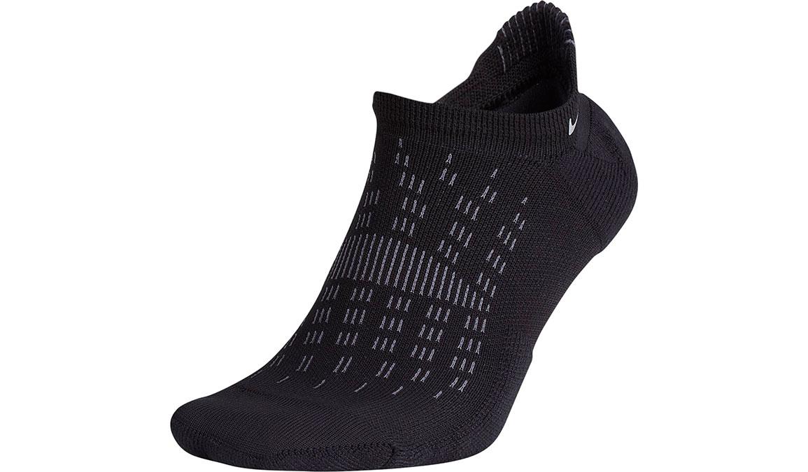 Nike Elite Cushioned Ankle Socks - Color: Black/Reflective Size: M4/W5.5, Black/Reflective, large, image 1