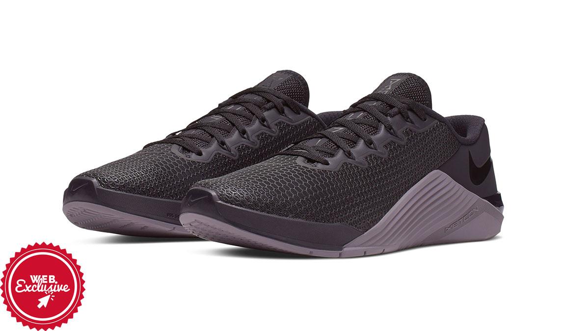Nike Metcon 5 Training Shoes - Color: Black/Gunsmoke (Regular Width) - Size: 3.5, Black/Gunsmoke, large, image 6