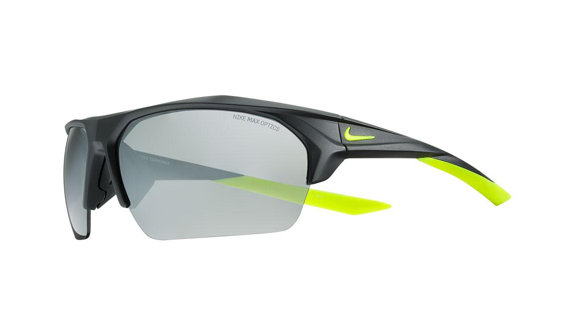 Nike Terminus Sunglasses - Color: Matte Black/Volt Size: OS, Matte Black/Volt, large, image 1