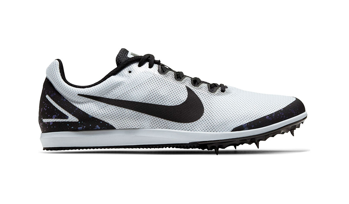 Nike Zoom Rival D 10 Track Spike - Color: Pure Platinum/Black/Indigo Fog (Regular Width) - Size: 4, Pure Platinum/Black/Indigo Fog, large, image 1