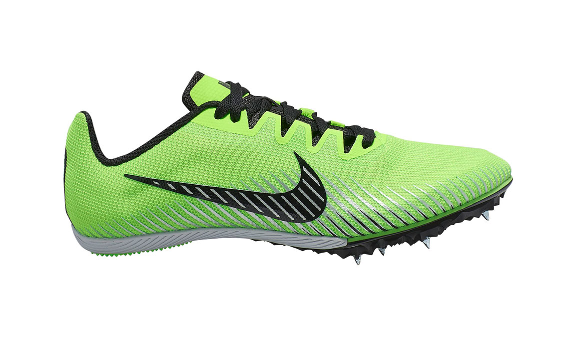 Nike Zoom Rival M 9 Track Spike - Color: Electric Green/Black (Regular Width) - Size: 7.5, Electric Green/Black, large, image 1