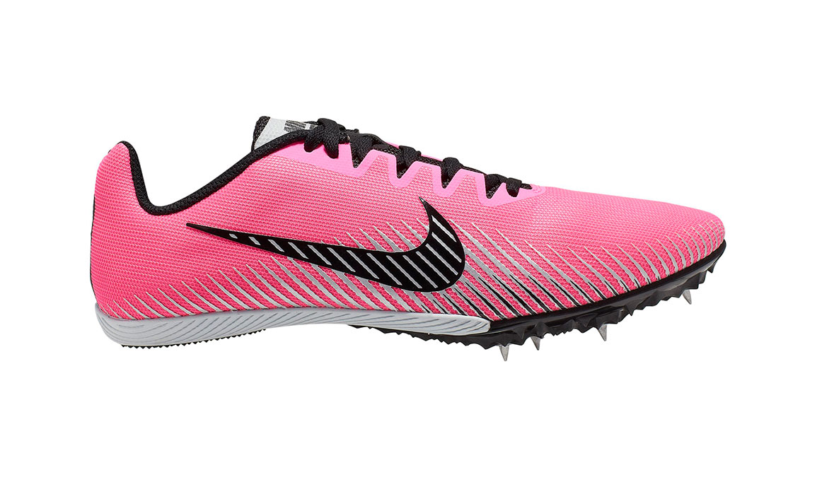 Nike Zoom Rival M 9 Track Spikes - Color: Pink Blast/Metallic Silver (Regular Width) - Size: 4, Pink Blast/Metallic Silver, large, image 1