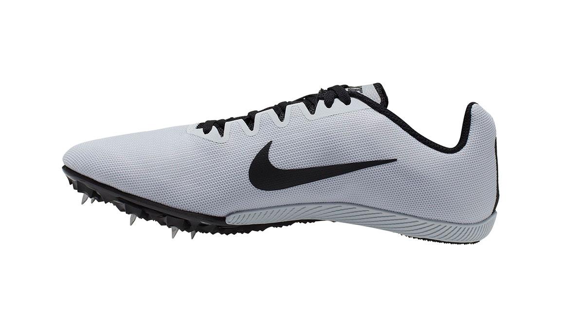 Unisex Nike Zoom Rival M 9 Track Spike - Color: Pure Platinum/Black (Regular Width) - Size: 5, Pure Platinum/Black, large, image 2