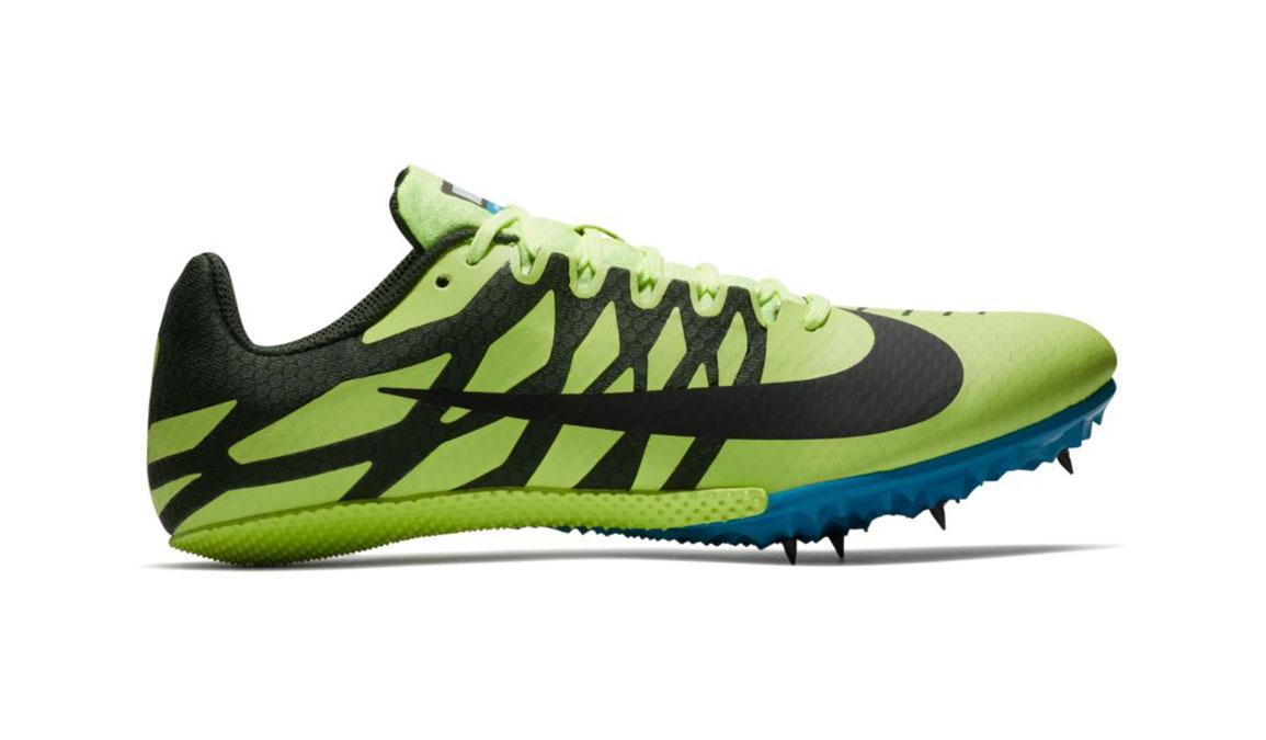 Men's Nike Zoom Rival S 9 Track Spike - Color: Volt Glow/Black (Regular Width) - Size: 5, Volt Glow/Black, large, image 1