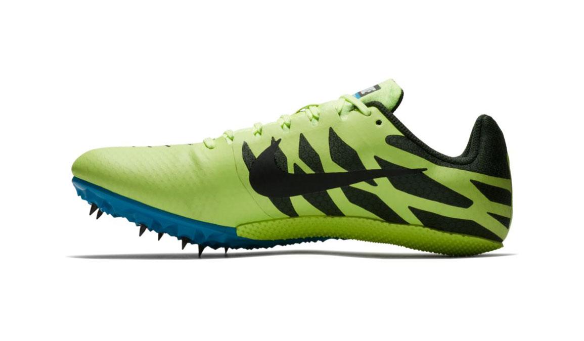 Men's Nike Zoom Rival S 9 Track Spike - Color: Volt Glow/Black (Regular Width) - Size: 5, Volt Glow/Black, large, image 2