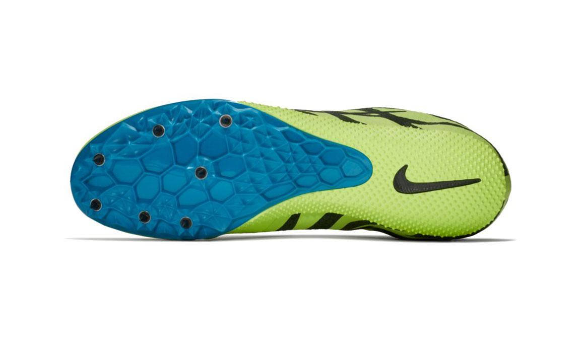 Men's Nike Zoom Rival S 9 Track Spike - Color: Volt Glow/Black (Regular Width) - Size: 5, Volt Glow/Black, large, image 3