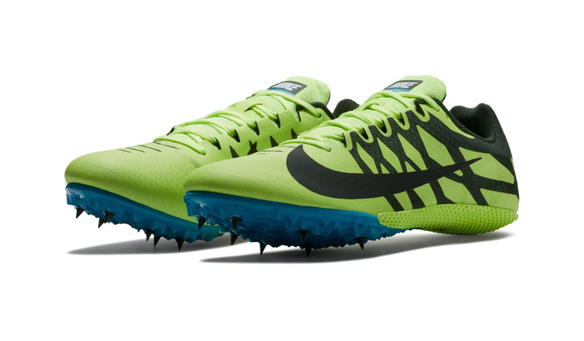 Men's Nike Zoom Rival S 9 Track Spikes - Color: Volt Glow/Black (Regular Width) - Size: 5, Volt Glow/Black, large, image 7
