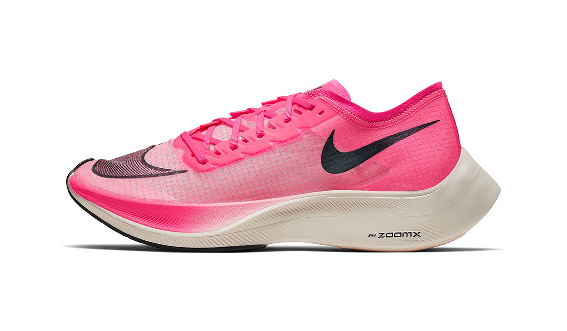 Nike ZoomX Vaporfly NEXT% Running Shoe - Color: Marathon Pack Pink (Regular Width) - Size: 3.5, Marathon Pack Pink, large, image 3