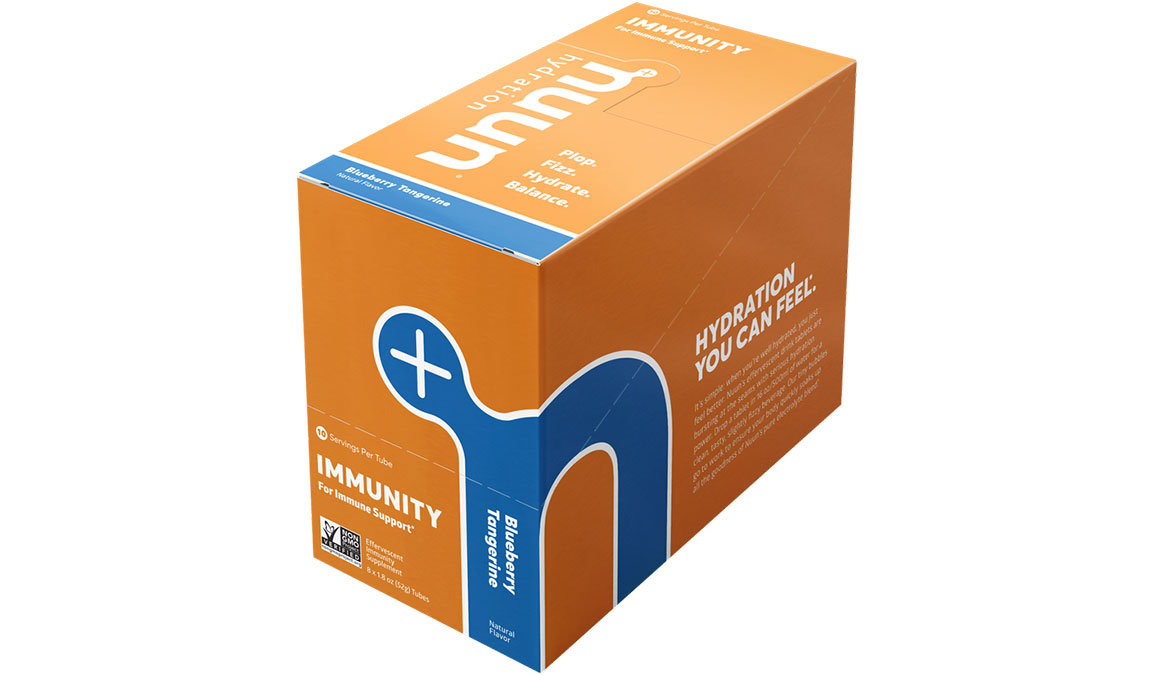 Nuun Immunity Drink Tablets - Flavor: Blueberry Tangerine - Size: Box of 8, Blueberry Tangerine, large, image 2