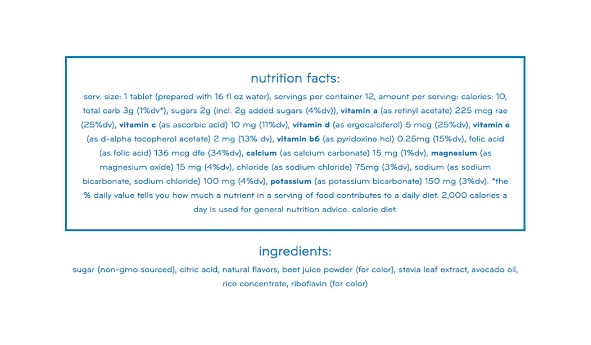 Nuun Vitamins Drink Tablets - Flavor: Blueberry Pomegranate - Size: Box of 8, Blueberry Pomegranate, large, image 2