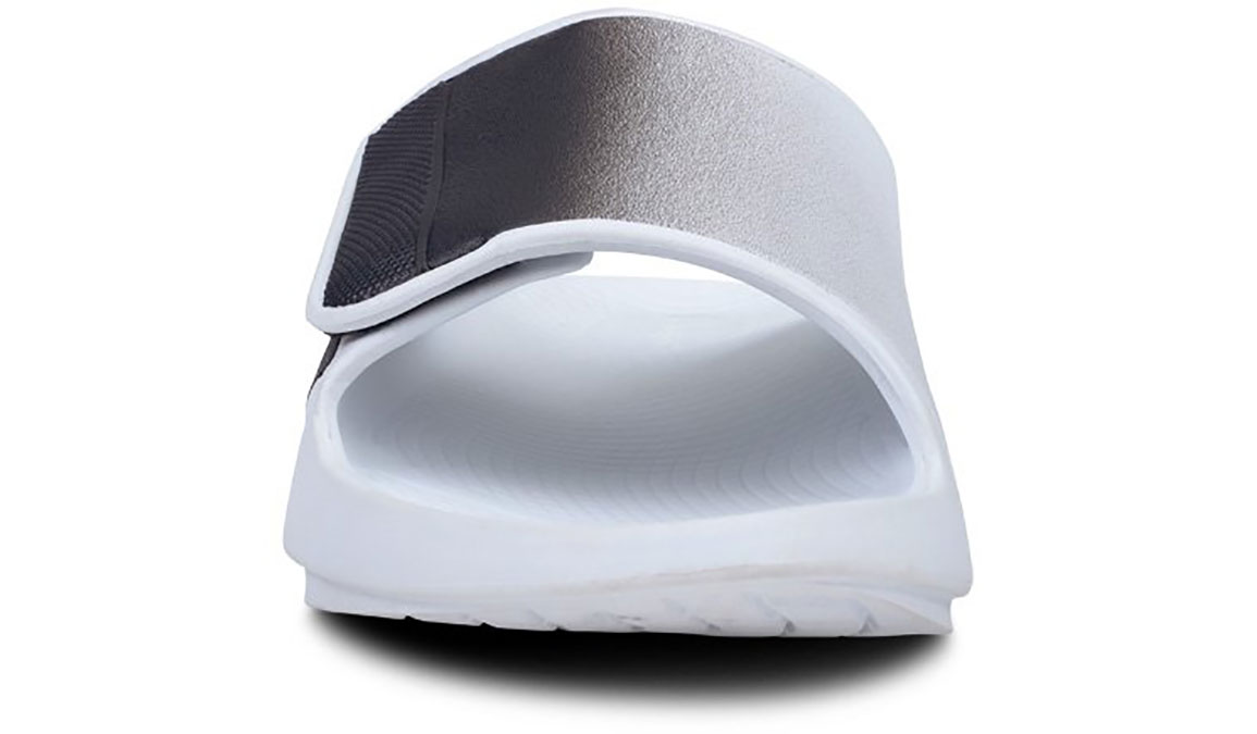Oofos OOahh Sport Flex Recovery Sandal - Color: White/Black (Regular Width) - Size: M10/W12, White/Black, large, image 4