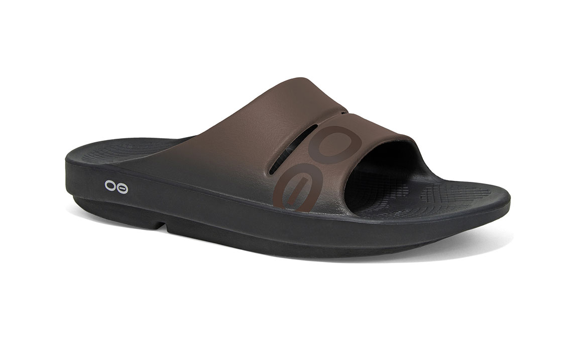 Oofos OOahh Sport Slide Recovery Sandal - Color: Brown - Size: M7/W9, Brown, large, image 2