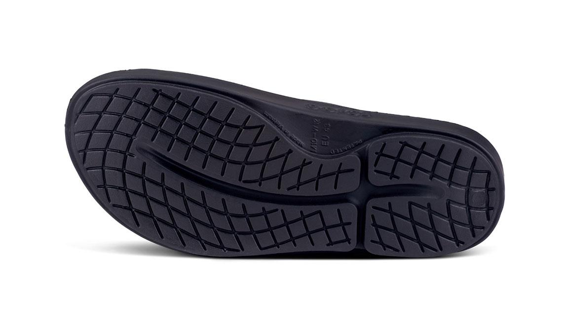 Oofos OOahhh Sport NYC 19 Slide Sandals - Color: Black (Regular Width) - Size: M6/W8, Black, large, image 4