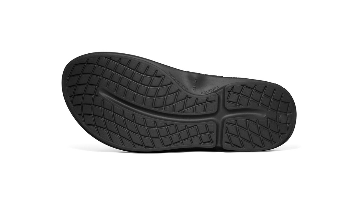 Oofos OOriginal Sport Thong Recovery Sandal - Color: Black/Graphite (Regular Width) - Size: M5/W7, Black/Graphite, large, image 4