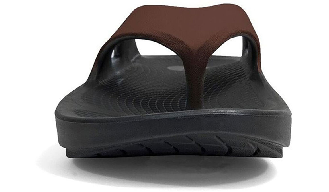Oofos OOriginal Sport Thong Recovery Sandal - Color: Black/Brown (Regular Width) - Size: M10/W12, Black/Brown, large, image 4