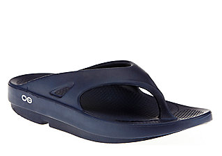 Unisex Oofos OOriginal Thong Recovery Sandal - Color: Navy - Size: M11/W13, Navy, large, image 1