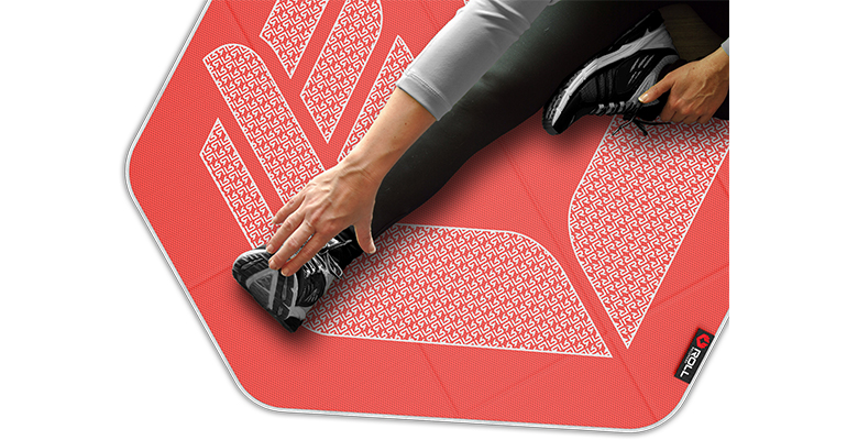 Roll Recovery StretchMat - Color: Rose, Rose, large, image 2