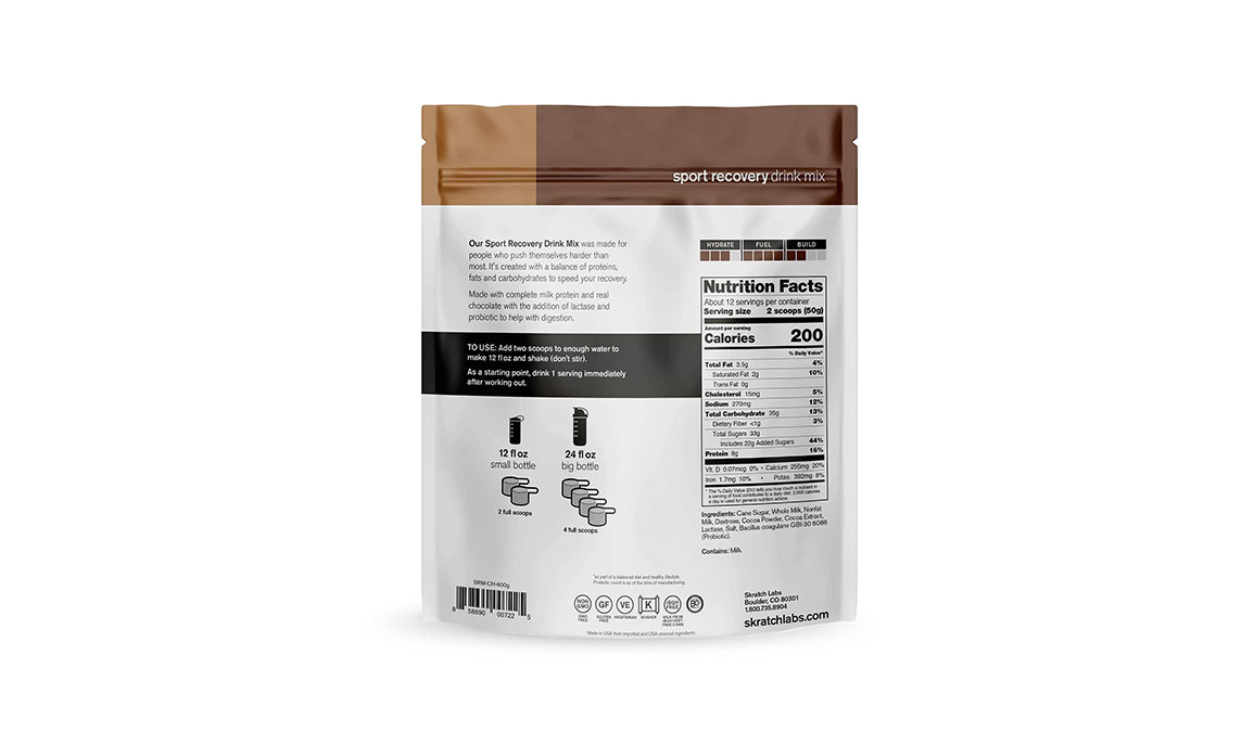 Skratch Labs Sport Recovery Drink Mix - Flavor: Chocolate - Size: 12 Servings, Chocolate, large, image 2