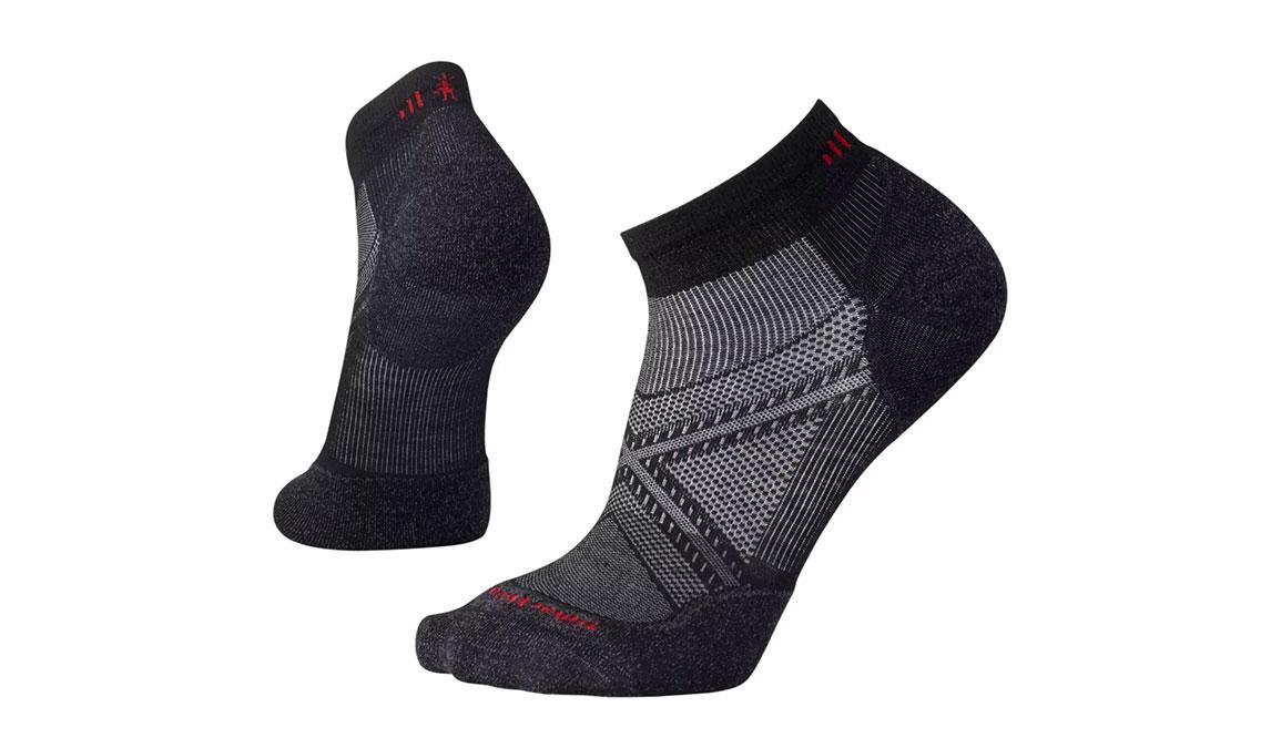 Men's Smartwool PhD Run Light Elite Low Cut Socks - Color: Black Size: XL, Black, large, image 1
