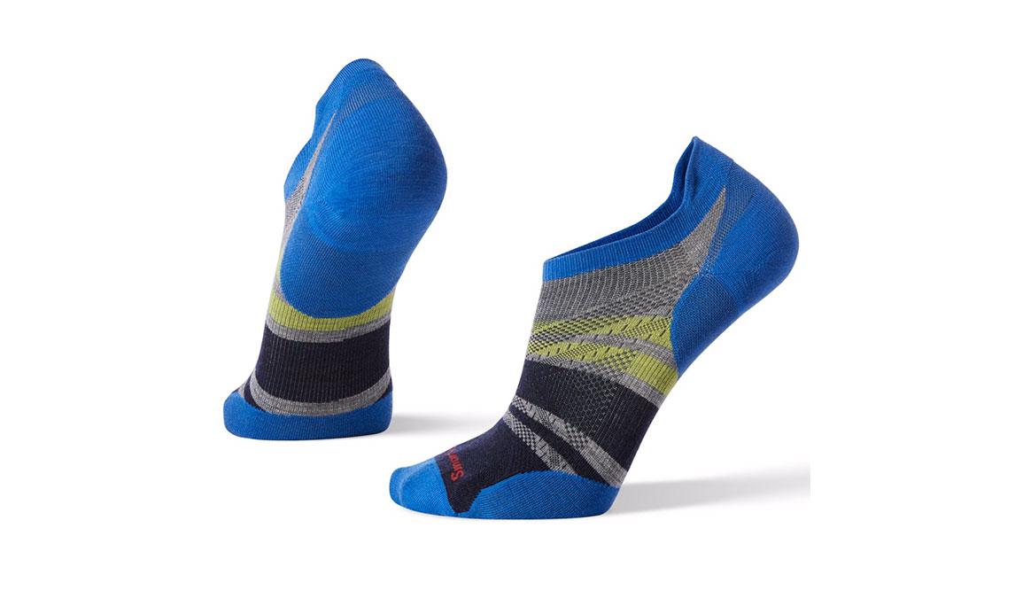 Smartwool PhD Run Ultra Light Pattern Micro Socks - Color: Light Grey Size: M, Light Grey, large, image 1