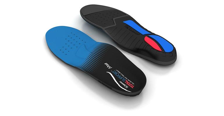 Spenco Total Support Max Insole - Color: Black/Blue - Size: 6, Black/Blue, large, image 1