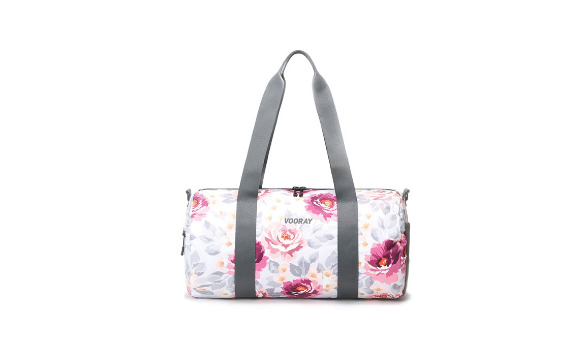 Vooray Iconic Barrel Duffel - Color: Peony Size: OS, Pink/White, large, image 1