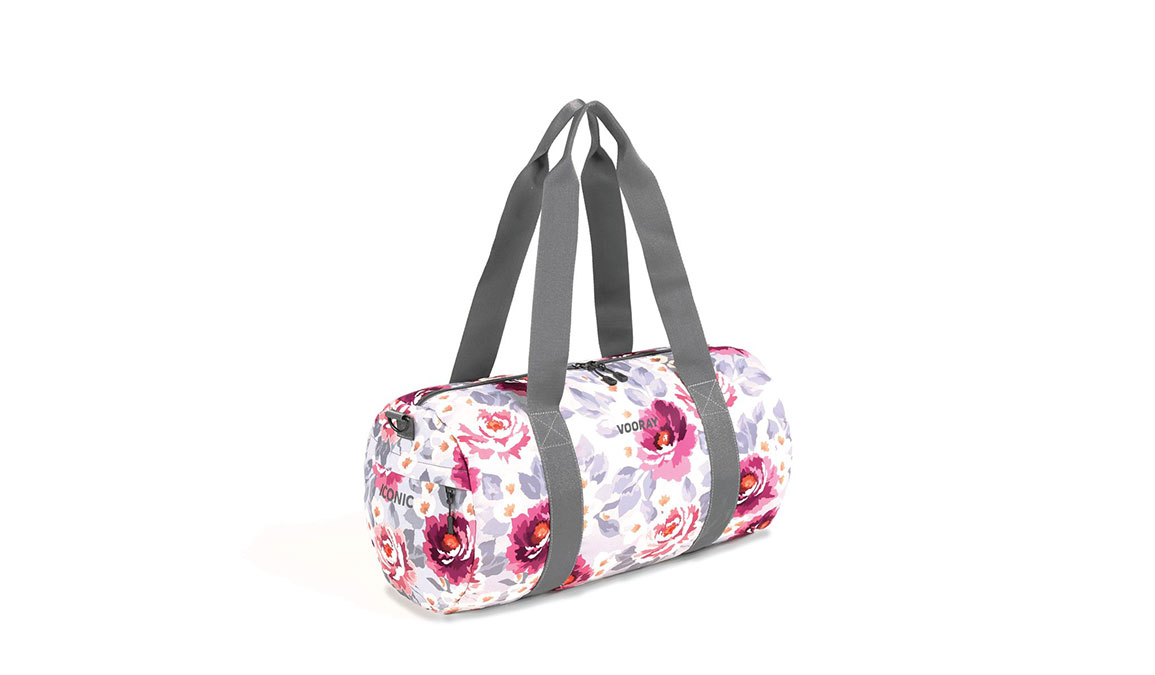 Vooray Iconic Barrel Duffel - Color: Peony Size: OS, Pink/White, large, image 2