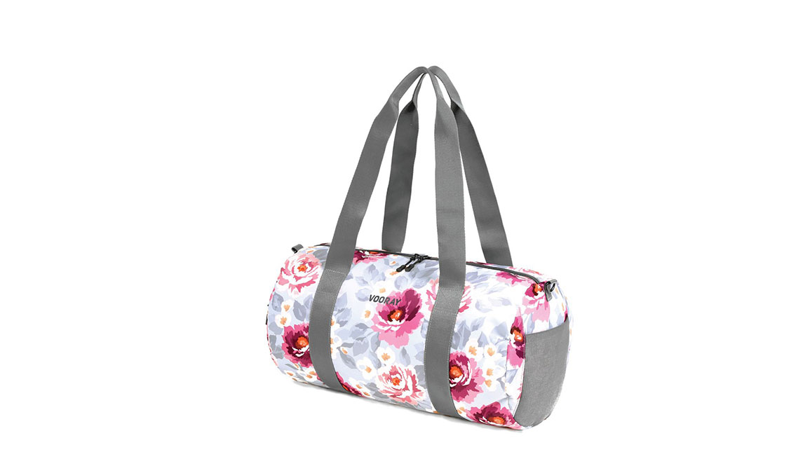 Vooray Iconic Barrel Duffel - Color: Peony Size: OS, Pink/White, large, image 3