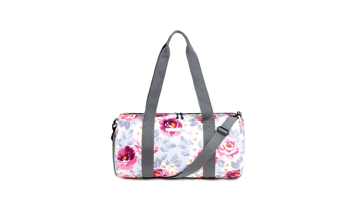 Vooray Iconic Barrel Duffel - Color: Peony Size: OS, Pink/White, large, image 4