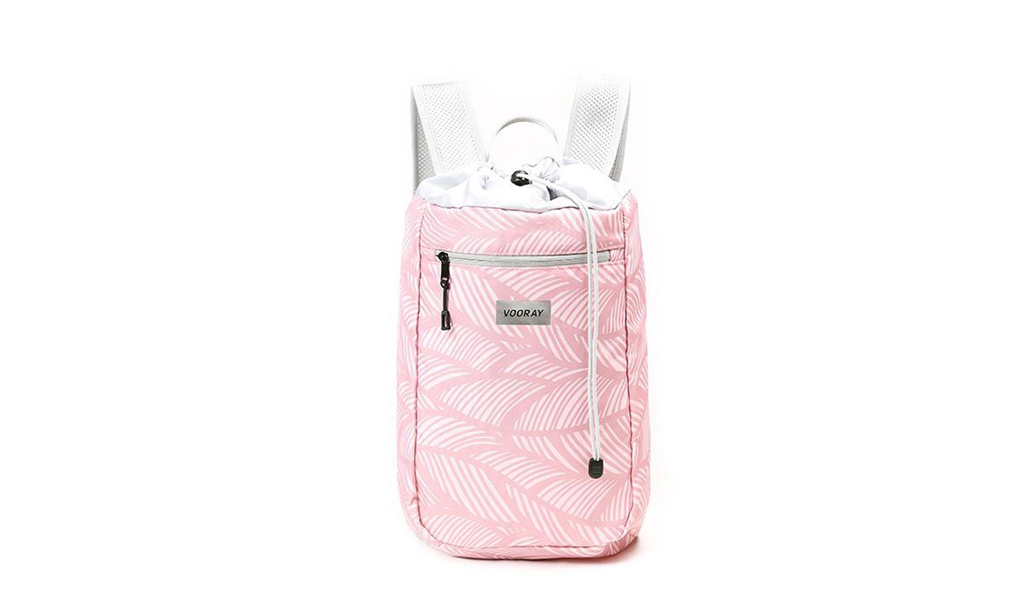 Vooray Stride Cinch Backpack - Color: Feather Pink Size: OS, Pink/White, large, image 1