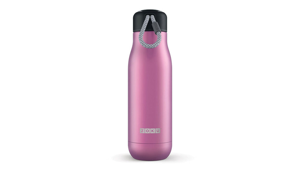 Zoku 18oz Stainless Steel Bottle - Color: Metallic Purple Size: NS, Purple, large, image 1