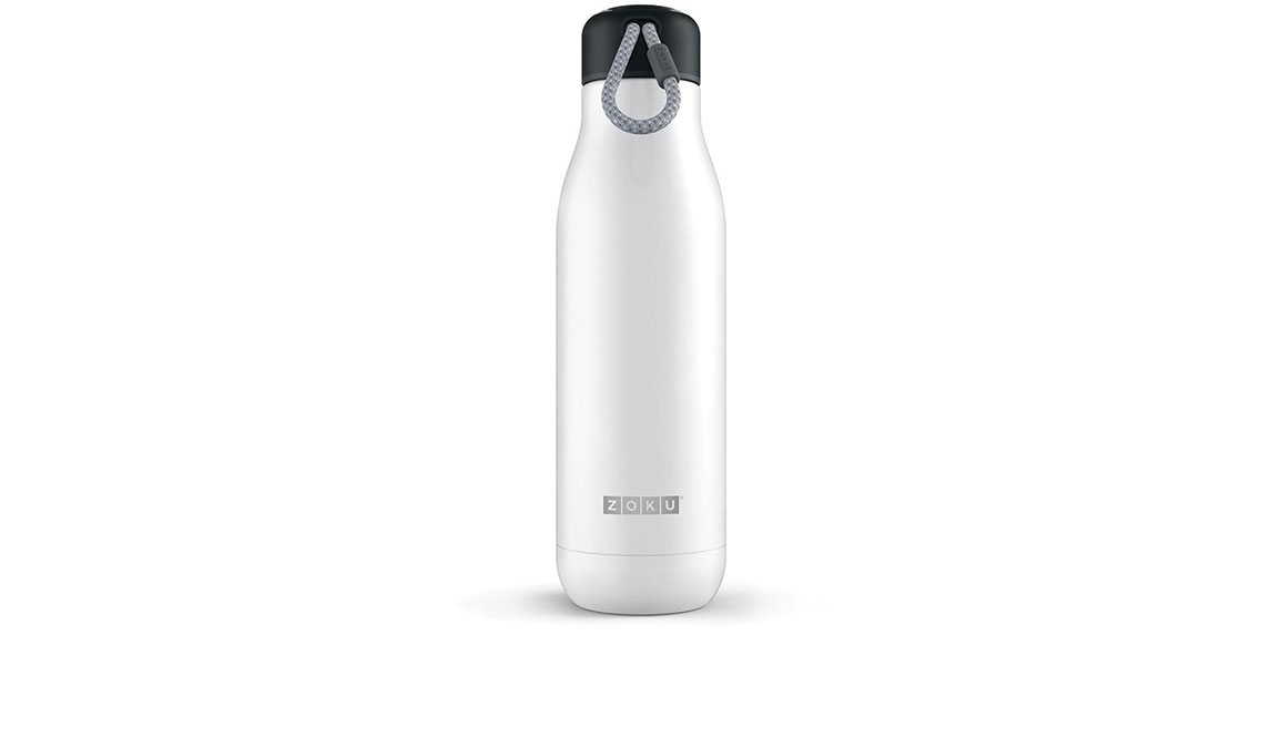 Zoku 25oz Stainless Steel Bottle - Color: White Size: NS, White, large, image 1