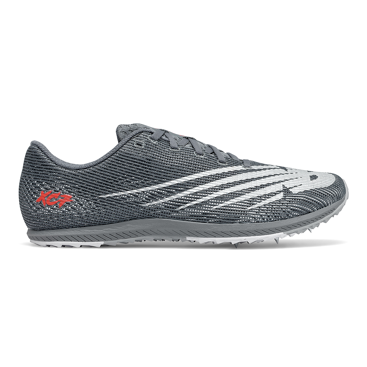 Men's New Balance XC Seven v3 Track Spikes - Color: Lead/Silver Metallic - Size: 4.5 - Width: Regular, Lead/Silver Metallic, large, image 1