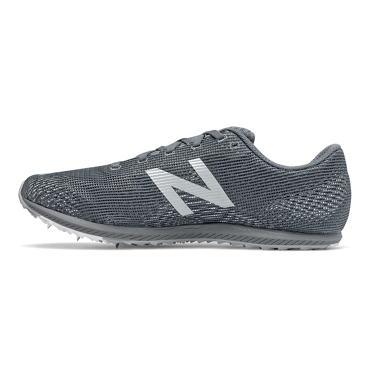 Men's New Balance XC Seven v3 Track Spikes - Color: Lead/Silver Metallic - Size: 4.5 - Width: Regular, Lead/Silver Metallic, large, image 2