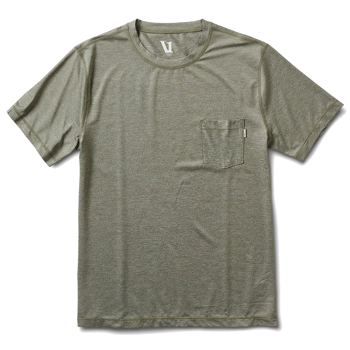 Men's Vuori Tradewind Performance Tee  - Color: Army Heather - Size: S, Army Heather, large, image 1