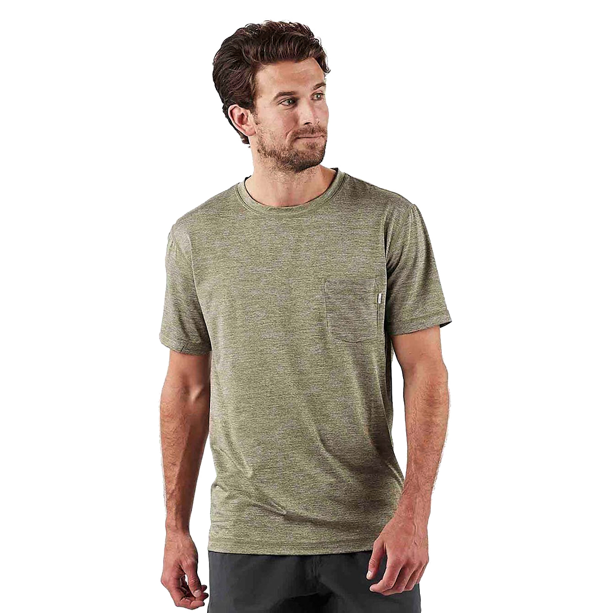 Men's Vuori Tradewind Performance Tee  - Color: Army Heather - Size: S, Army Heather, large, image 2
