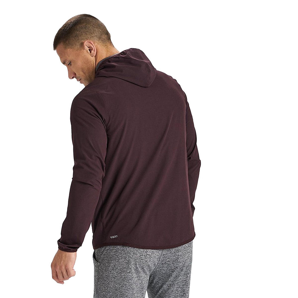 Men's Vuori Outdoor Trainer Shell  - Color: Oxblood Texture - Size: S - Width:, Oxblood Texture, large, image 2