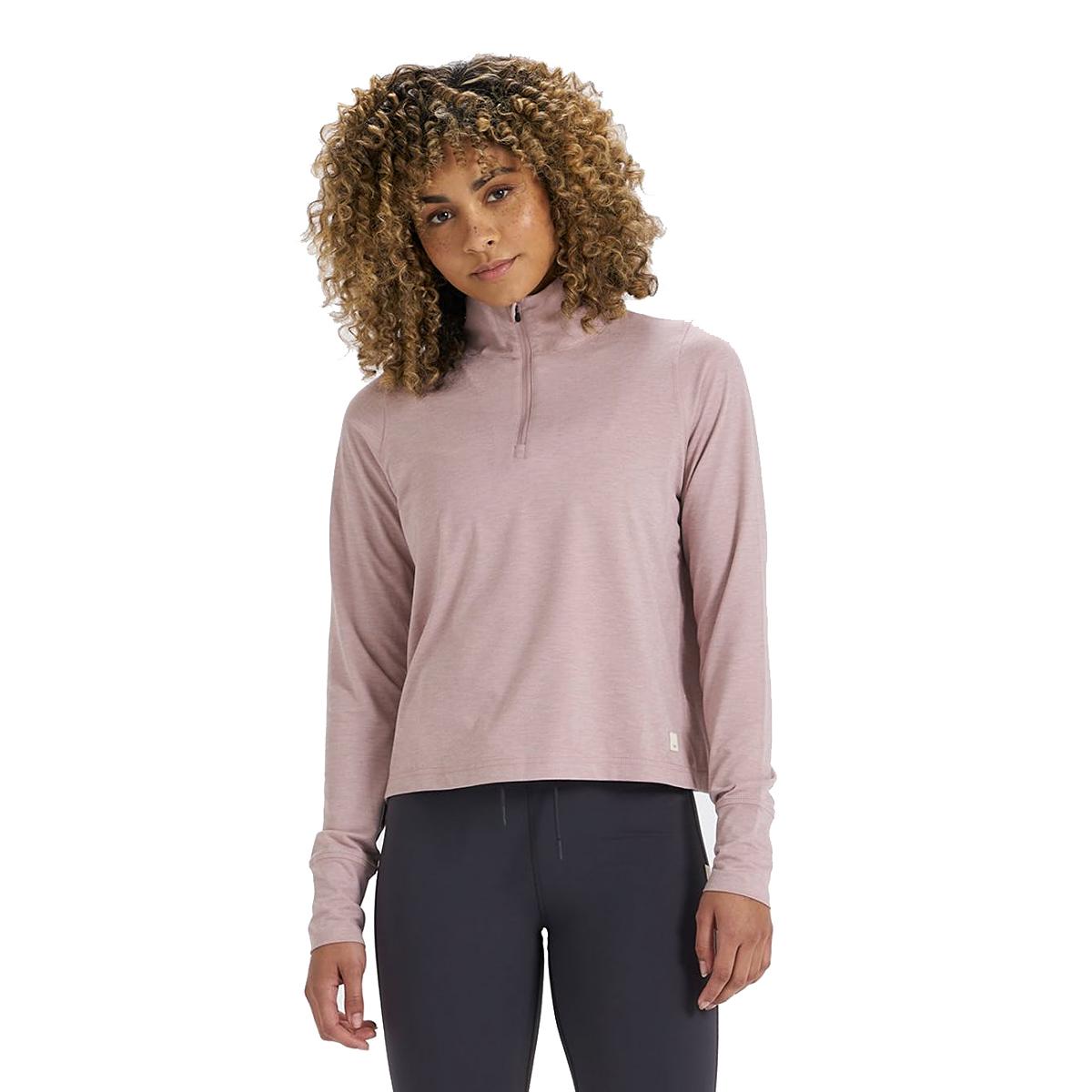 Women's Vuori Crescent Half Zip - Color: Dusk Heather - Size: XS, Dusk Heather, large, image 1