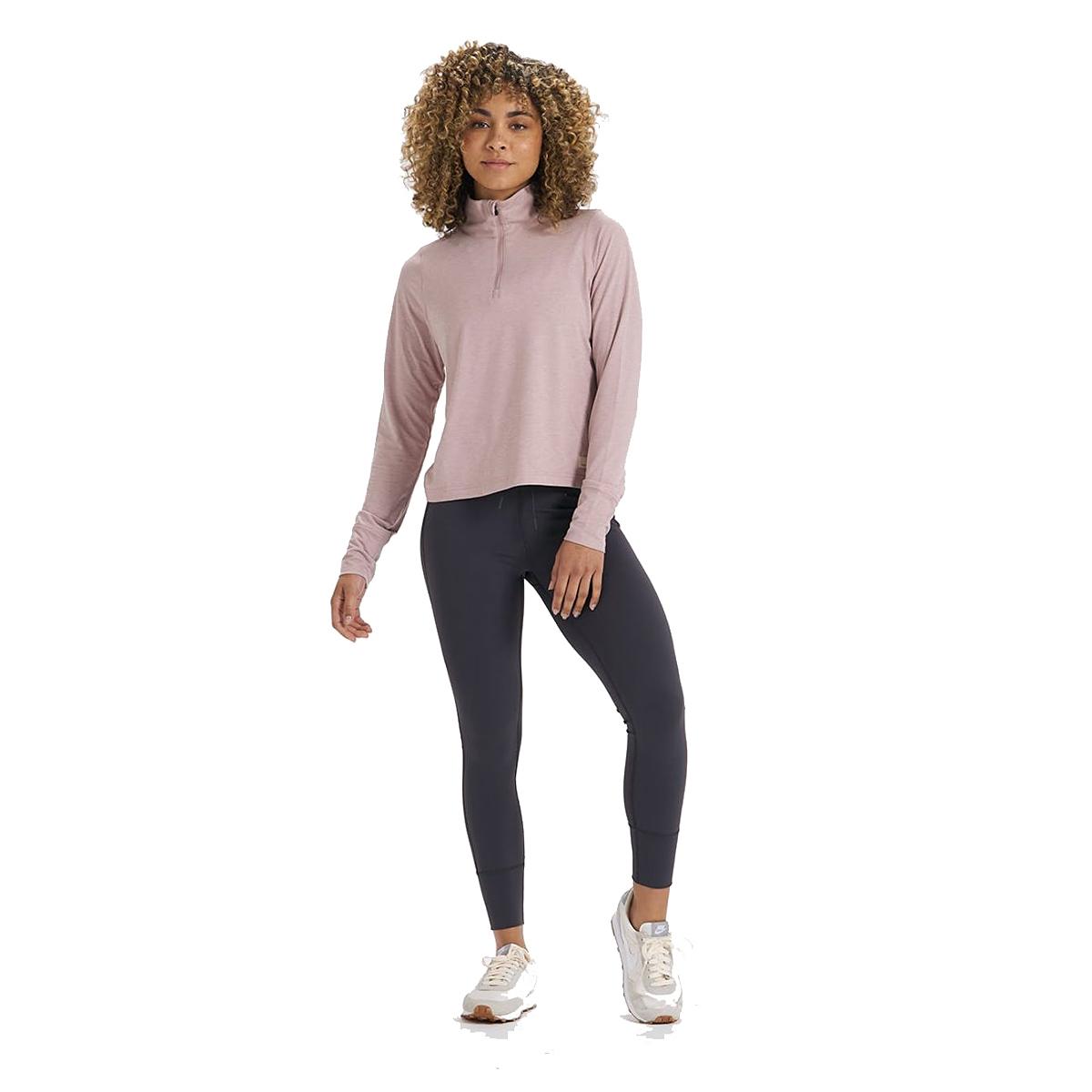 Women's Vuori Crescent Half Zip - Color: Dusk Heather - Size: XS, Dusk Heather, large, image 3