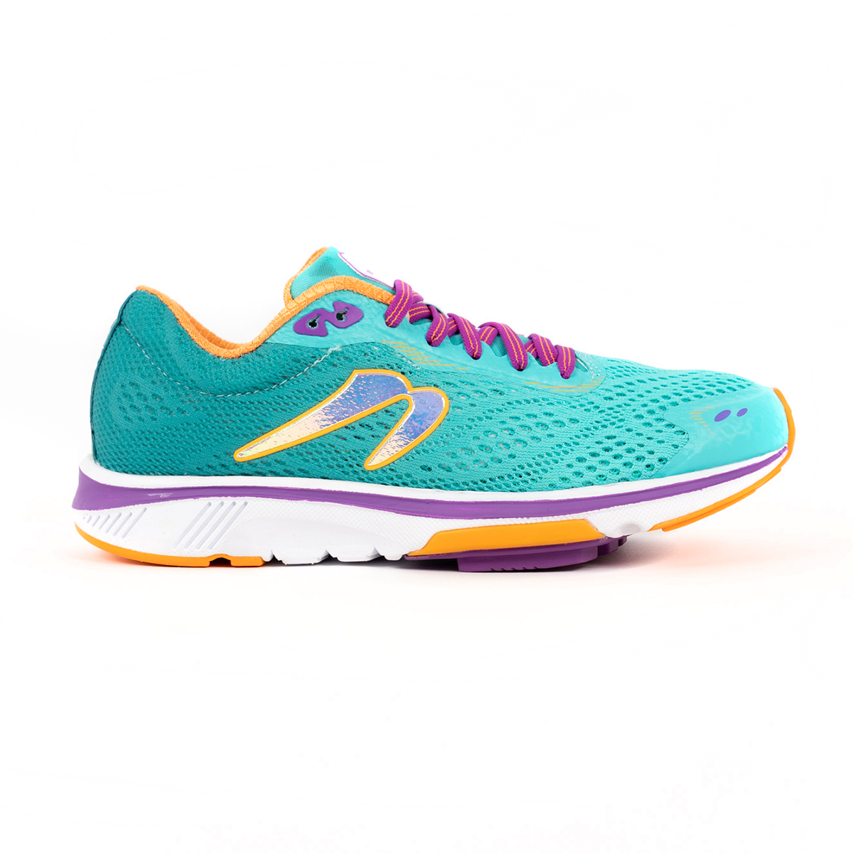 Women's Newton Gravity 9 Running Shoe - Color: Jade/Purple (Regular Width) - Size: 5, Jade/Purple, large, image 1