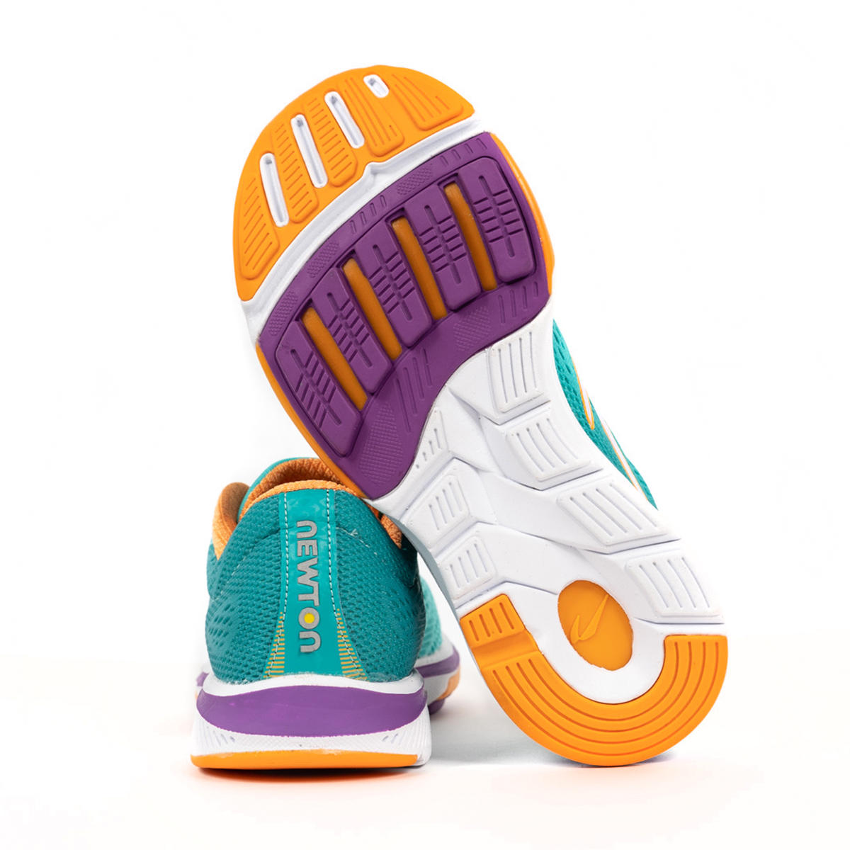 Women's Newton Gravity 9 Running Shoe - Color: Jade/Purple (Regular Width) - Size: 5, Jade/Purple, large, image 2